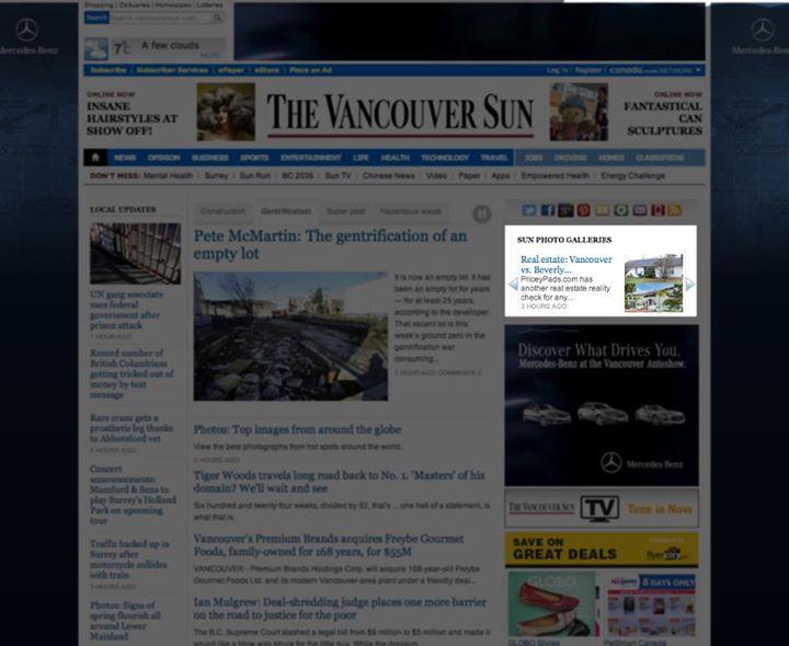 Vancouver Sun Homepage