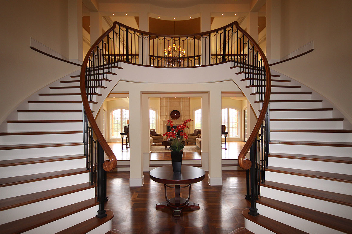 Grand Entrance With Dual Stairways Pricey Pads