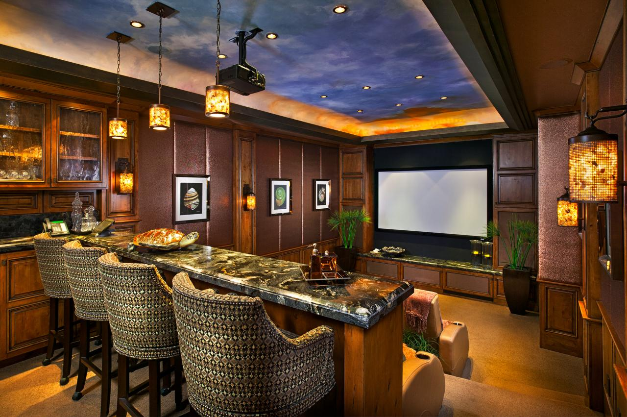 Step into paradise 29 000 000 pricey pads - Beautiful home media room designs ...