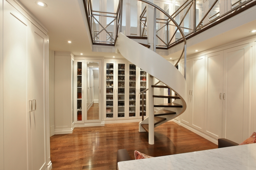Elegant forest hill estate 7 998 000 pricey pads for Two story spiral staircase