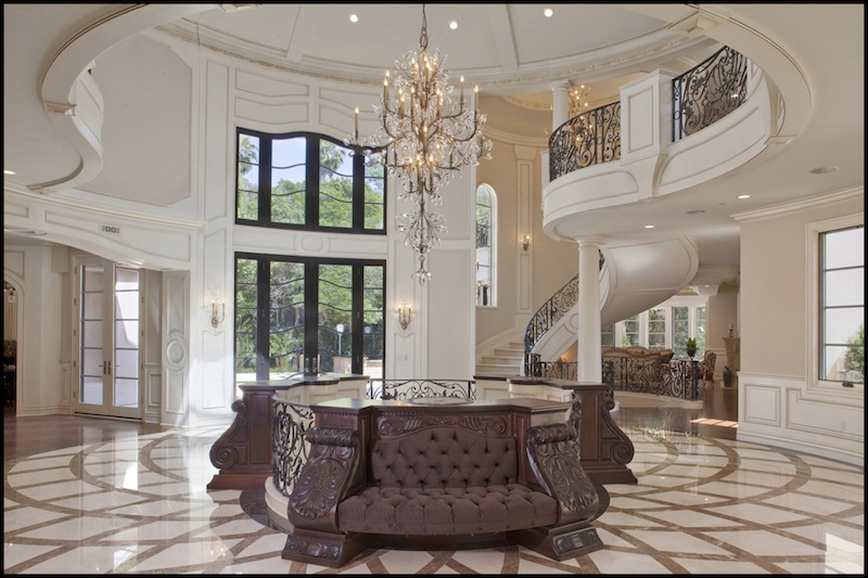 Bel air mansion with ferrari foyer pricey pads for Mansion foyer designs