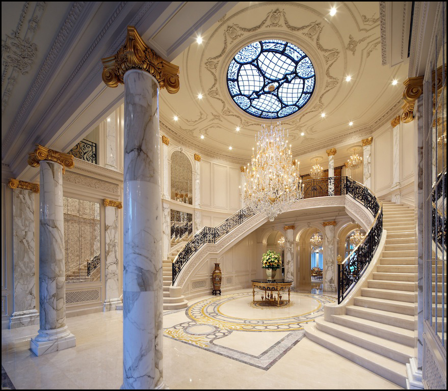 Double Staircase Foyer: Palais Des Anges Finds A Buyer