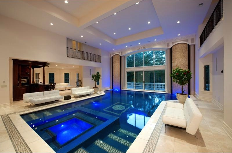 Exquisite stone mansion 19 000 000 pricey pads for Swimming pool with jacuzzi design