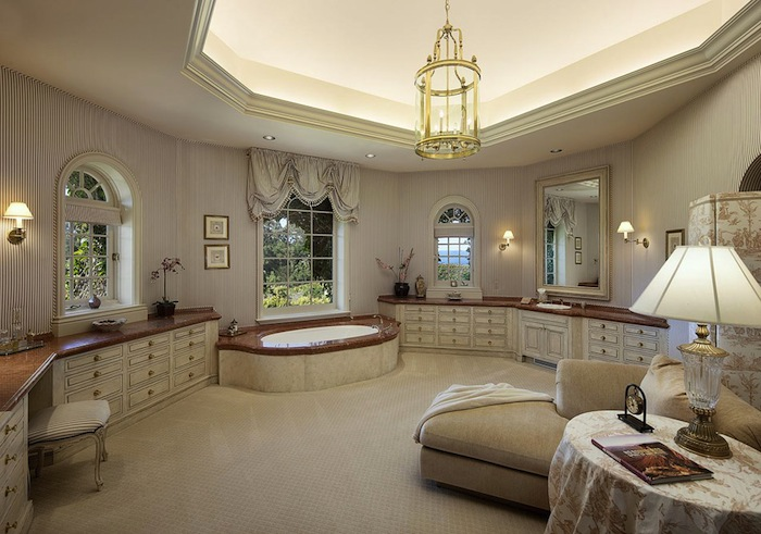 Enchanting french country estate 18 200 000 pricey pads for Master bathroom designs with walk in closets