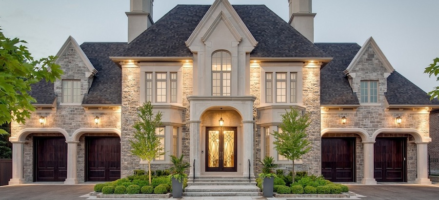 Mansions in toronto an exterior shot of william harris for House plans ontario canada
