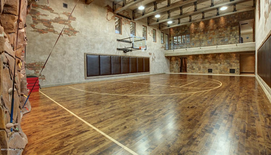 Stunning Indoor Home Basketball Court Contemporary - Interior ...