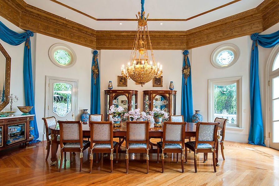Solid Bronze Dual Staircases Formal Dining Room Features In Numerous Films Address 1091 Laurel Way Beverly Hills California United States 90210