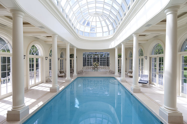 Prestigious french ch teau 15 900 000 pricey pads - Indoor swimming pools in los angeles ca ...