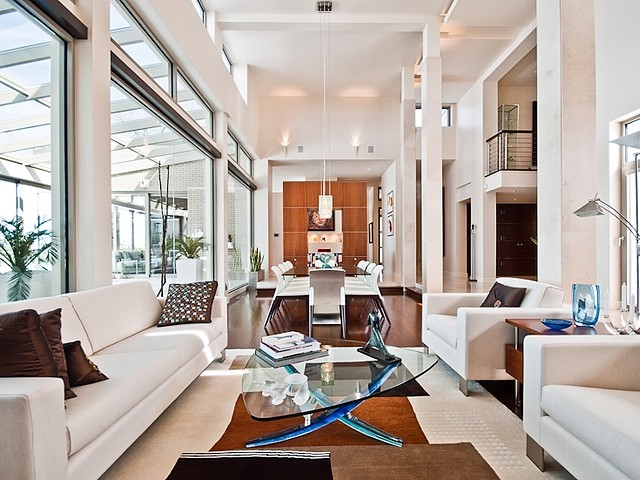 2006 modern masterpiece 5 980 000 pricey pads for Living rooms bedrooms dinettes