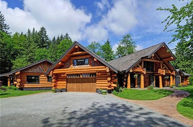 Grand Log Home 2 999 999 Pricey Pads