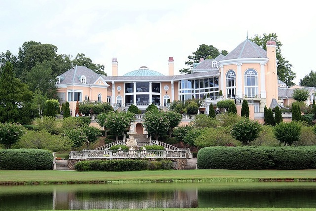 rear of mansion