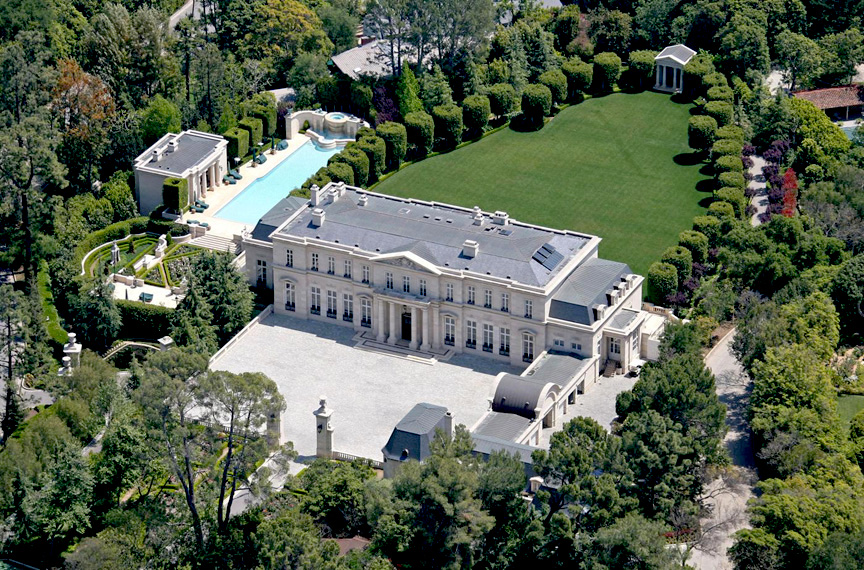 Metro Networks founder David Saperstein and his former wife Suzanne have just listed their Bel Air mansion for sale at $125 million.